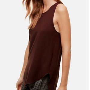 ARITZIA | Wilfred maroon Sevres blouse